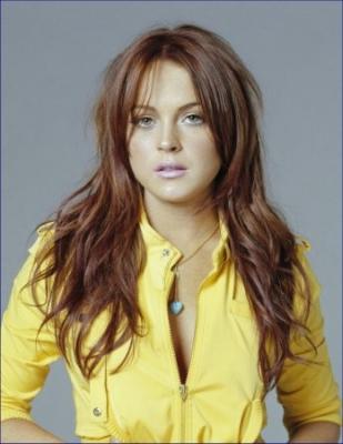 Coiffure de Lindsay Lohan Cheveux brun clair