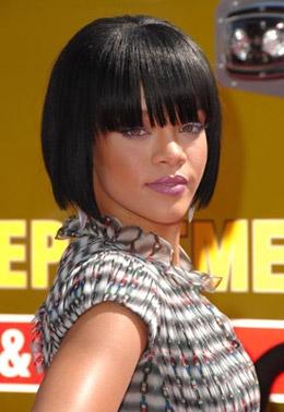 Coiffure De Rihanna Coupe Carré Plongeant Coiffure Femme